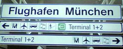 Sign showing both terminals one and two to both left and right
