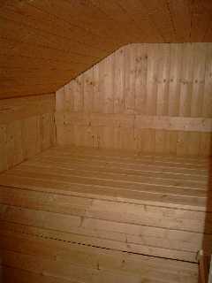 saunabau im holzhaus. Black Bedroom Furniture Sets. Home Design Ideas